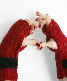 Fingerless gloves hand warmers crochet in by Loopedwithlove4U, $18.00