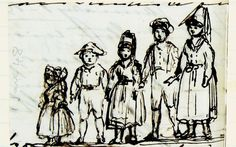 Queen Victoria's 5 children dressed as Coburg and Thüringen peasants, January 1848 Photo: Royal Archives/HM Queen Elizabeth II 2012 Queen Victoria Children, Queen Victoria Family, Victoria And Albert, Victoria's Children, Kids, Commonplace Book, Kingdom Of Great Britain, British History, Painting & Drawing
