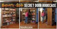 Hogwarts-Style Secret Door Bookcase For Book Lovers!