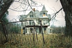 Old creepy house at the end of the street. .