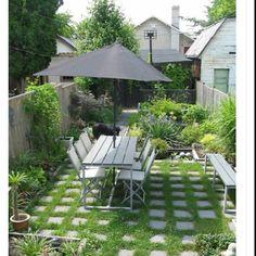 Green small yard.