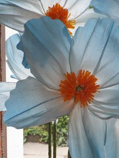 giant  paper flower tropical wedding
