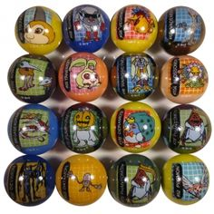 Random Digimon Marble-These marbles each feature a full-color image of a different Digimon, short for digital monsters. Digimon hatch from eggs called digi-eggs. They age in a similar fashion to real organisms, but do not die under normal circumstances because they are made of reconfigurable data.