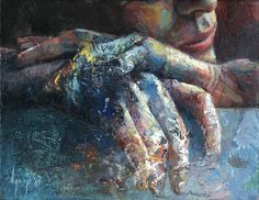 "Would love a print of this - David Agenjo; Painting, ""Hands-on XIII"""
