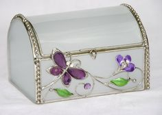 Artico Butterfly Decoration Jewelry Box, Purple