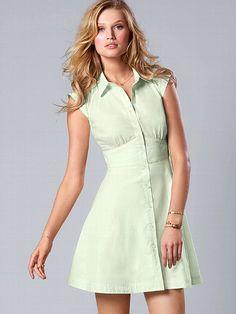 Sheer-panel Shirtdress #VictoriasSecret http://www.victoriassecret.com/clothing/clear-ance/sheer-panel-shirtdress?ProductID=90628=OLS?cm_mmc=pinterest-_-product-_-x-_-x