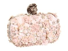 Alexander McQueen Box Clutch Jacquard RTW.... I love this. All girly & pink & has a bejeweled skull closure :))