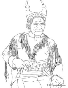 geronimo coloring page