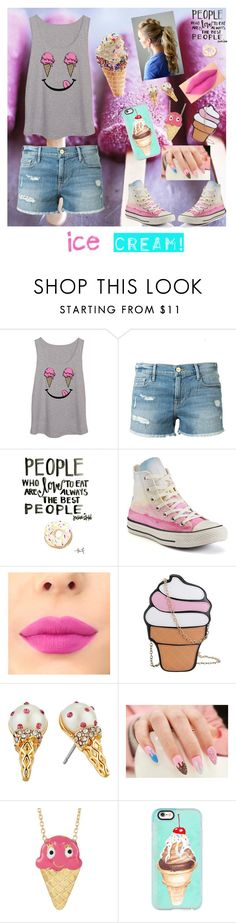 """IceCream Treats Contest"" by princessamal2003 ❤ liked on Polyvore featuring interior, interiors, interior design, home, home decor, interior decorating, Frame Denim, Converse, Kate Spade and Gab+Cos Designs Cute tank, lol"