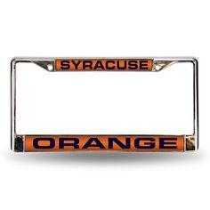 New! Syracuse Orangemen Laser Chrome Frame #SyracuseOrange