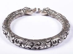 925 Solid Sterling Silver Bangle Nice Rajasthan Traditional Desing 56 mm JSBG-39 #Handmade #Bangle Bangles, Bracelets, Traditional Design, Asian, Ebay, Sterling Silver, Nice, Jewelry, Jewlery