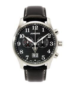 Junkers Herren-Armbanduhr XL Iron Annie JU52 Chronograph Quarz Leder 66862 - http://uhr.haus/junkers/junkers-iron-annie-ju52-chrongraph-2