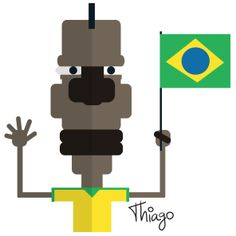 Mario Balotelli, ilustração, humor, Brasil, Itália, comédia, design, futebol, torcedor, Copa do Mundo, jogador