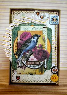 BoBunny: Let's Play with Rose Cafe!Wonderful' by Romy-Veul - Wendy Schultz ~ Cards Scrapbook Cards, Scrapbooking Ideas, Bird Cards, House Of Cards, Greeting Cards Handmade, Cardmaking, Paper Crafts, My Favorite Things, Bunny