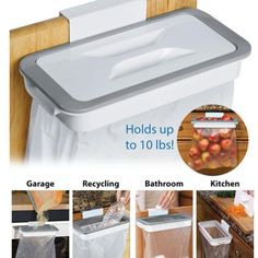 Kitchen Accessories Supplies Kitchen Trash Bag Storage Rack Cupboard Kitchen Bathroom Hanging Holders Trash Toy Food Container-in Racks & Holders from Home & Garden on AliExpress - Day Hanging Storage, Toy Storage, Storage Rack, Dish Storage, Trailer Storage, Camper Storage, Basket Storage, Kitchen Pantry Storage, Kitchen Cupboards