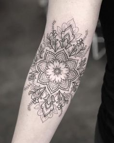 - I love this tattoo and her work Kristi Walls Tattoo Frauen Motiv Wade 37 Super Ideas Forearm Tattoo Designs To Always Remember Your Roots And Life Story. The forearm is generally an o. Dotwork Tattoo Mandala, Mandala Tattoo Sleeve, Forearm Flower Tattoo, Forearm Sleeve Tattoos, Forearm Tattoo Design, Mandala Tattoo Design, Tattoo Designs, Tattoo Arm, Tattoo Ideas