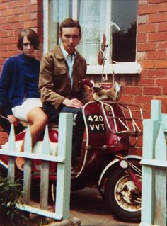 "misterivy: "" Mods Pam & Dave Fowler, Stoke-on-Trent 1968 . Originally posted by Stephen James Fowler to Mod Photographs (Facebook). """