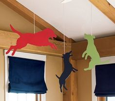 Hanging dog cutouts! Fun for a child's room.