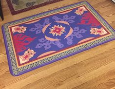 Aladdin's Magic Carpet Rug or Bath Mat Kids by SweetPeaPetiteShop