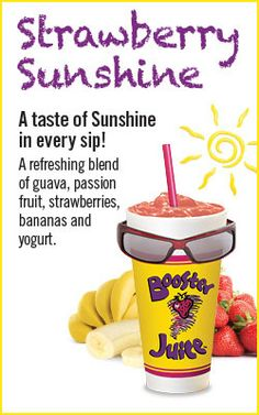 Strawberry Sunshine Orange Juice Smoothie, Fruit Smoothies, Strawberry Banana, Strawberry Recipes, Juice Recipes, Smoothie Recipes, Yogurt Ice Cream, Protein Shakes, Frozen Yogurt