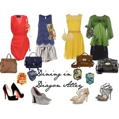 Dining in Diagon Alley Harry Potter Style, Harry Potter Outfits, Harry Potter Quotes, Diagon Alley, Clothing Websites, Inspired Outfits, Slytherin, Cool Photos, Women's Fashion
