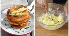 Bei diesen panierten Kartoffelpfannkuchen mit cremiger Füllung läuft uns das Wasser im Mund zusammen.