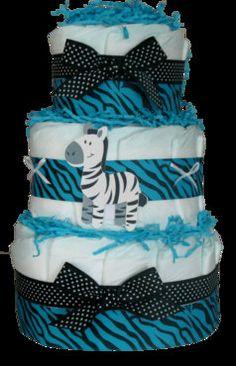 Diaper Cake. Zebra Diaper Cake Boy zebra print diaper cake. Baby Shower Diaper Cake. Baby Boy. - http://www.babyshower-decorations.com/diaper-cake-zebra-diaper-cake-boy-zebra-print-diaper-cake-baby-shower-diaper-cake-baby-boy.html