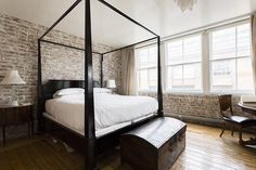 Beautiful and functional in one bed. I love the black wood!  Sorry lost track of were this picture came from (let me know if it's yours!)