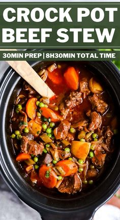 Serve up a hot meal without the fuss for your family tonight: This crock pot beef stew is the perfect easy comfort food. It is simple to prepare in the slow cooker, made entirely from scratch for a healthy dinner! It is the best kind of slow cooker meal you can sit down to.   #recipes #easyrecipes #dinner #easydinner #slowcooker #crockpot #stew #beef #beefrecipes #beefstew #slowcookerrecipes #crockpotrecipes #healthyfood #healthyrecipes #healthyeating #healthycooking Best Crockpot Beef Stew, Easy Beef Stew, Crockpot Dishes, Healthy Crockpot Recipes, Cooking Recipes, Beef Recipes, Slow Cooker Recipes, Crockpot Lunch, Slow Cooker Soup