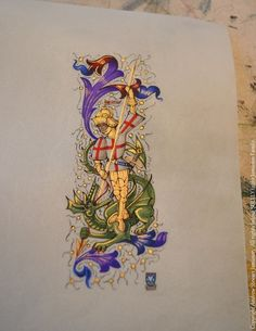 British Artist and Designer Andrew Stewart Jamieson's, 'Grand Armorial Vellum Library Paintings' (coats of arms, heraldic art, heraldry, heraldic artist, medieval illumination)
