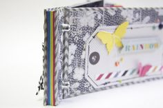 Minibook with rainbow pages