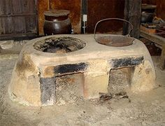"""Hettsui-No-Kami is the Japanese Goddess of the cookstove, also referred to as a kamado. Kamados (like the photo above) were used for cooking beginning in the Kofun period, around 250-538 C.E., and the name literally translates to """"place for a cauldron.""""  They were made from the earth and fueled either by wood or charcoal.  Hettsui-No-Kami's Shinto festival is held on November 8th.  Ask Her blessings on your hearth and home today!      http://www.inhername.com"""
