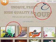 Красивый макет сайта в Фотошоп