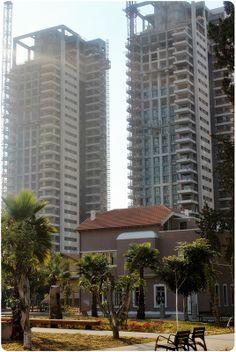 New high rise buildings being built next to Sarona,Tel Aviv