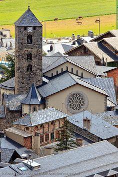 Andorra city views: Andorra la Vella. View from Rec del Sola, Andorra la Vella, Andorra, Pyrenees