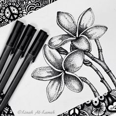 Find images and videos about art, black and white and flowers on We Heart It - the app to get lost in what you love. Stippling Art, Dots Art, Dotted Drawings, Pointalism Art, Ink Art, Black Pen Drawing, Pen Art Drawings, Art, Pen Art Doodle