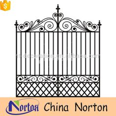 Source Metal beautiful house latest main gate designs model NTIRG-019Y on m.alibaba.com
