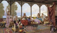 Fabio Fabbi (Italian, , A Lazy Afternoon on the Terrace Exotic Art, Professional Photography, Drawing For Kids, Rose Buds, Istanbul, Graphic Art, Antiques, Images, Paintings