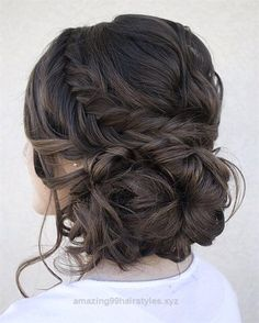 Loose serpentine braids make this updo standout. Hair & Makeup by Steph, Wedding Hairstyles, Hair Updos Loose serpentine braids make this updo standout. Hair & Makeup by Steph, Wedding Hairstyles, Hair Updos Fall Wedding Hairstyles, Fancy Hairstyles, Hairstyle Ideas, Quince Hairstyles, Latest Hairstyles, Hairstyle Wedding, Beautiful Hairstyles, Brunette Hairstyles, Hairstyles 2016