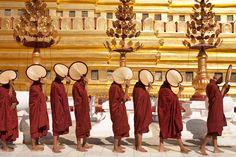 Shwezigon pagoda, festival, Bagan, Burma