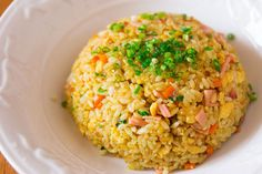 This curry fried rice recipe is a great to break up a mindless week of not-so-colorful meals.