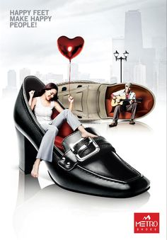 Metro Shoes: Shoe Lounge (Urban Shoes) | Ads of the World™ Creative Shoes, Ads Creative, Creative Advertising, Advertising Design, Advertising Ideas, Advertising Campaign, Creative Ideas, Funny Advertising, Shoe Poster