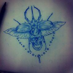 beetle tattoo back - Google Search
