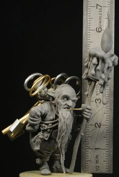 """This is the Keykeeper I have sculpted for the Kickstarter campaign """"The World of Jean-Baptiste Monge"""" by Blacksmith Miniatures I am very happy to have been given the opportunity to work on such an illustration by the awesome Jean-Baptiste Monge Sculptures Céramiques, Sculpture Clay, Fantasy Miniatures, Creature Design, Cartoon Drawings, Troll, Art Dolls, Sculpting, Fantasy Art"""
