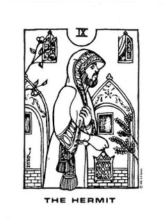 The Hermit - Ravenswood Eastern Tarot