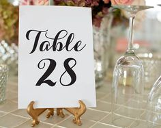 Leave the stress out of last minute wedding details! Use your home computer to print your own Wedding Table Numbers. Download the high resolution PDF instantly right after payment! How to Download Your Digital Items >> www.etsy.com/help/article/3949  ----------------------------------------- ◦ -----------------------------------------  H O W ⋆ I T ⋆ W O R K S  1. Add listing to shopping cart, purchase, and download file(s) 2. Print right from your home computer or at a local print shop 3…