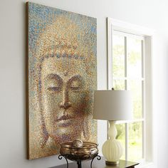 Let our impressionist-inspired Profound Buddha Art make a good impression.