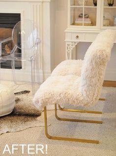 Faux Fur Chairs Adore Chair Makeover Diy Chair