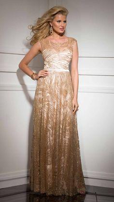 Clarisse Gold Formal Prom Dress 4504   Promgirl.net