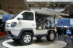 Not all concepts have to be the epitomy of cool. This Daihatsu Mud Master C looks a bit like a milk float stuffed full of bikes...but we like it #pinspiration